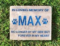 Personalized, Engraved Pet Memorial Stone, Dog, Cat, Horse, Garden Stone, Angel