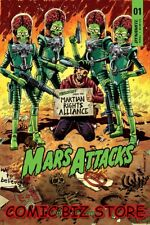 MARS ATTACKS #1 (2018) 1ST PRINTING MARRON VARIANT COVER C DYNAMITE COMICS