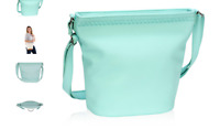 New Thirty-One Café Crossbody - Skies for You Pebble