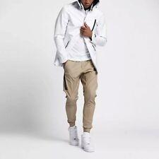 Nike Sportswear Waterproof Bonded Blazer Rain Jacket Mens Medium White Black
