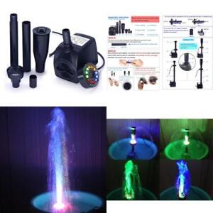 Submersible Water Pump Ultra Quiet Led Light 12 Color Pond Fountain Lighting Kit