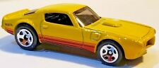 Hot Wheels MUSCLE MANIA 1973 PONTIAC FIREBIRD TRANS AM Yellow 1/64 Scale Diecast