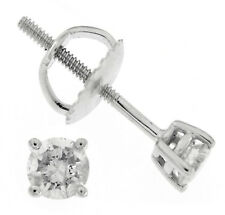 9.22 CT Real Solitaire Diamond Solid 14K WHITE GOLD Stud Push Back Fine Earrings