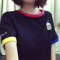 Harujuku Cute Funny Shirt Women Kawaii Korean T Shirt Printing Tees Plain Top RU