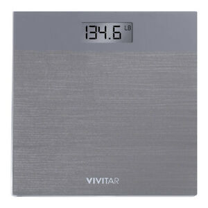 Vivitar Healthy Balance Digital Bathroom Scale Big LCD Display Nonslip Surface