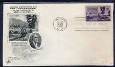 US FDC ArtCraft SC #954 CALIFORNIA GOLD CENTENNIAL COLOMA CALIF. JAN 24  1948