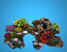 Aquarium Deko 🍀 KORALLEN RIFF 28 cm 🍀 Stein Terrarium Dekoration Zubehör (VO)