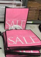 Huge Lot Of 50x Victoria's Secret Store Shopping Bags All Brand New Flat