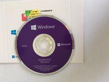 Microsoft Windows 10 Pro 64-bit Full version software - DVD