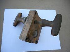 Antique George B. Henne Co. Philadelphia Pennsylvania Brass Box Door Lock & Knob