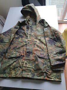 Genuine German Army Issue Flecktarn Camo Gore-Tex Waterproof Parka Jacket