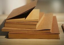 New 32K Vintage Brown Cover Blank Kraft Paper Sketchbook Journal Diary Note Book