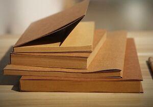 New 32K Vintage Brown Cover Blank Kraft Paper Sketchbook Journal Diary Note Book