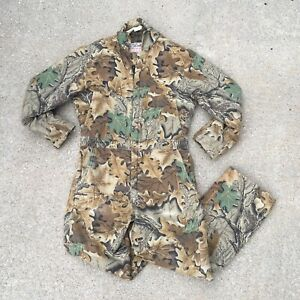 Vtg Walls Blizzard Pruf Camo Hunting Coverall Lined Insulated Warm Men's Medium