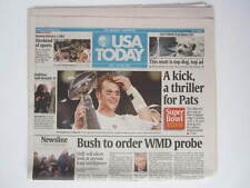 New USA TODAY NEWSPAPER 2-2004 PATRIOTS SUPER BOWL 38 Brady NFL XLIX LI