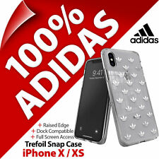 adidas Originals Trefoil Logos Snap Clear Case Cover for Apple iPhone X / XS