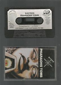 PHAROAHS TOMB - A&F SOFTWARE - ACORN ELECTRON CASSETTE GAME