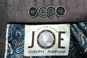 Recent JOSEPH ABBOUD 100% Linen Blend Blazer 40R Black Brown Tan Herringbone