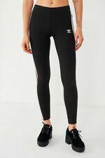 NWT WOMEN'S ADIDAS ORIGINALS 3-STRIPES LEGGINGS BLACK WHITE XL