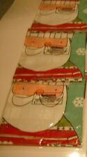 3 Xmas Present Santa Father Christmas Sacks Plastic PVC 75cm x 62cm pack of 3