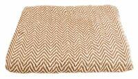 Allure Natural Cotton Audley Chevron Design Throw Beige Naturals 130 x 180cm