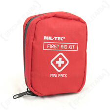 Mini First Aid Pack - Red Bag Hiking Car Walking Army Outdoor Emergency Medical