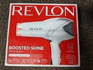 New Revlon 1875W Infrared Hair Dryer for Faster Drying & Maximum Shine RVDR5105
