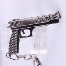 6.5CM Croce Fuoco CF Miniatura Revolver Pistola Arma Metallo Modello Portachiavi
