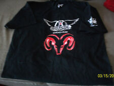 RARE AWESOME BLACK AEROSMITH SZ XL GRAB LIFE BY THE HORNS CLEVELAND + FREE LIVE