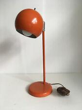 VTG Orange Tangerine Eyeball Orb Eye Desk Table Lamp Sonnemon Kovac Eames Knoll