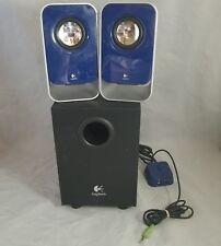 Desktop Computer Stereo Speaker Logitech 2.1 LS21 w/2 System Subwoofer