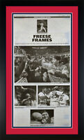 "2011 St Louis Cardinals Dispatch Newspaper Page ""Freese Frames"" Framed!"