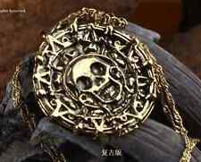 Skull Pirates of the Caribbean JACK SPARROW AZTE Bronze Coin Necklace Elizabeth