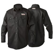 Lincoln K3113 Black Flame Retardent Welding Shirt Size Medium