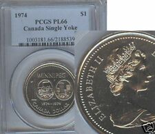 1974 CANADA DOLLAR.SINGLE YOKE  PCGS  PL-66
