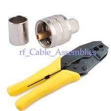 Crimper Crimping Tool 336K + 10 x PL-259 UHF male crimp connector LMR-400 RG8