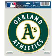 """OAKLAND ATHLETICS LOGO 8""""X8"""" COLOR DIE CUT DECAL NEW FREE SHIPPING WINCRAFT"""