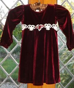 Jinelle, Red Velvet party or special occasion dress, age 3T USA