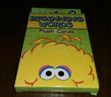 Sesame Street Beginning Words Flash Cards Educational Vocabulary Parent motivate