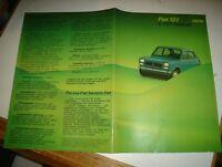 Publicidad Folleto Fiat 127E 127 Special Anni '70