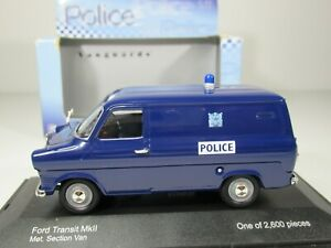 VANGUARDS, 1:43 Scale, FORD TRANSIT MkII METROPOLITAN POLICE VAN, VA 06616