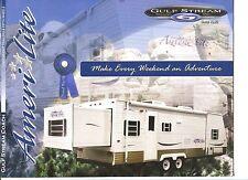 GULF STREAM COACH Lightweight TRAILERS & FIFTH WHEELS Sales Brochure 2002 NM