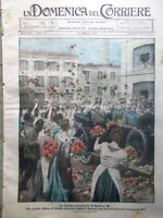 La Domenica del Corriere 27 Maggio 1923 Manzoni Grotte Postumia Diavolo Cefalù