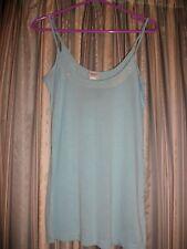 Aqua Sequin Vest Top Size 12 together