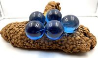Lucite Acrylic 5 Blue Grapes on Driftwood Vintage Mid Century Retro 1960s