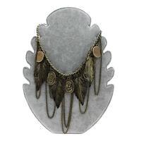 Fashion Vintage Copper Silver Coins Pendant Bib Statement Chunky Choker Necklace