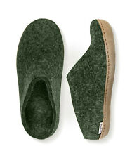 Glerups Unisex B Forest Wool Slipper with Leather Sole - EU 44 (US Men's 10.5)