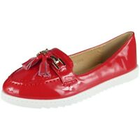 Womens Comfy Flat Loafers Ladies New Tassel Casual Slip On Work Pumps Shoes Size