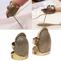 1pcs Retro DIY Hand Sewing Thimble Finger Shield Protector Metal Ring Craft