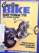 Custom Bike Magazine Suzuki GS1000 June 1978 010218nonrh